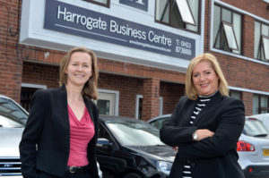 Susan Clark of LCF Law and Debi Ferriday of Impression Recruitment Harrogate