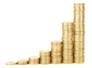 LCF Law Solicitors | Changing Values | image of money in columns
