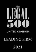 LCF | Legal 500 | Leading Firm 2021